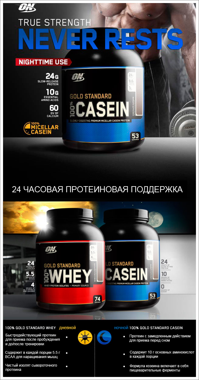 Optimum: Gold Standard 100% Casein