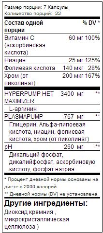 Mutant: Pump (154 таб, 22 порции)